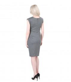 Rochie din jerse elastic gros gri