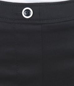 Fusta din bumbac elastic negru