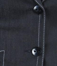 Sacou din bumbac elastic cu tighele