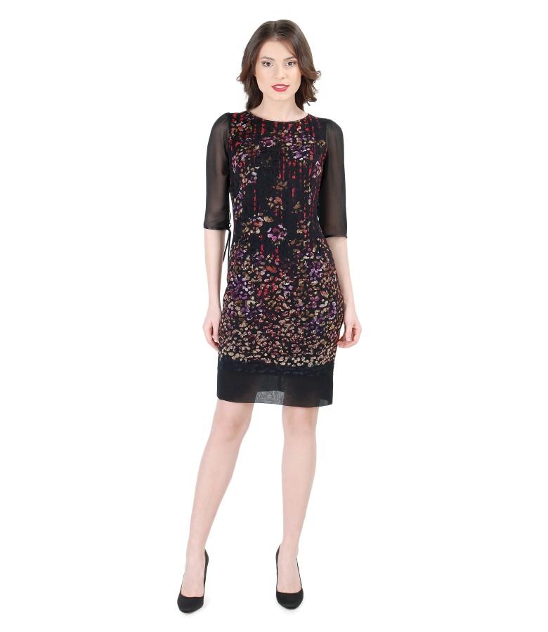 Rochie eleganta brocata cu catifea