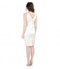 Rochie eleganta din bumbac elastic brocat