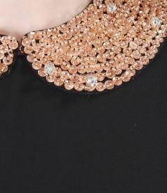 Rochie de seara din voal cu guler