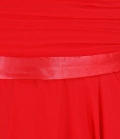 Rochie de seara lunga din voal