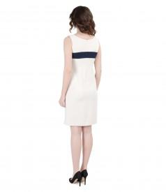 Rochie eleganta cu garnitura pe bust