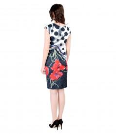 Rochie eleganta brocata cu motive florale