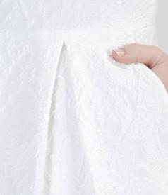 Rochie din brocart elastic cu buzunare