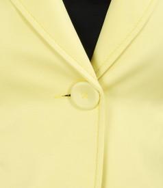 Sacou din bumbac elastic cu accesoriu