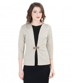 Bluza din tricot elastic cu bumbac
