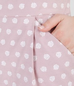 Rochie cu bumbac elastic brocat