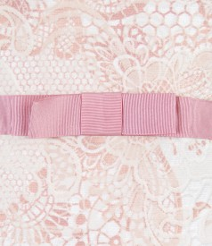 Rochie din bumbac elastic brocat cu motive florale