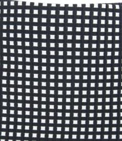 Fusta din bumbac elastic gofrat alb-negru