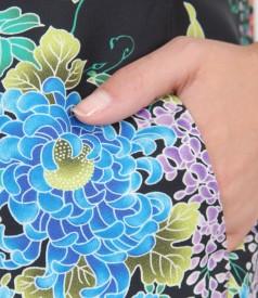 Rochie imprimata cu buzunare