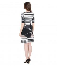 Rochie din jerse elastic imprimat