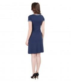 Rochie din tricot elastic cu garnitura