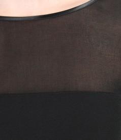 Rochie de seara scurta cu garnitura de voal