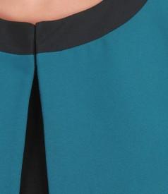 Bolero elegant cu buzunare si garnitura