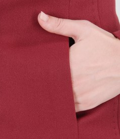 Sacou office din stofa elastica cu buzunare