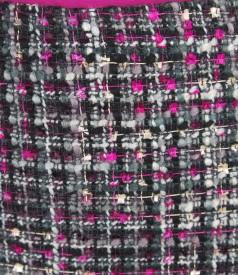 Fusta eleganta din bucle multicolor cu lana