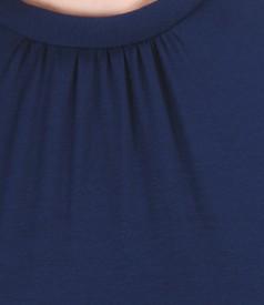Bluza din jerse elastic cu falduri