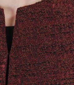 Sacou elegant din brocart satinat cu lana