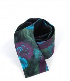Cordon lat din brocart multicolor