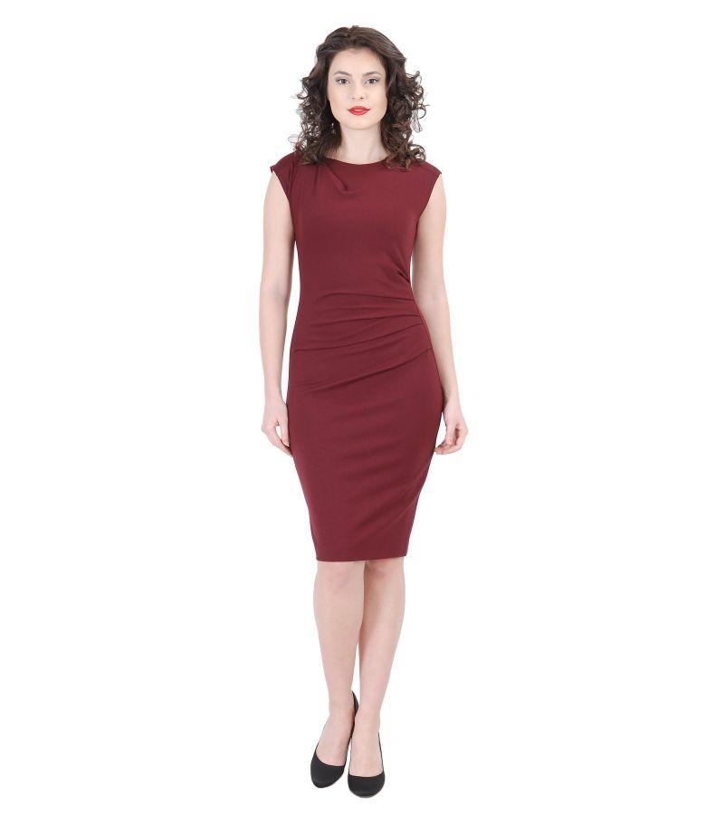 Rochie din jerse elastic gros cu falduri