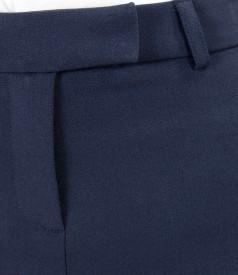 Fusta office din stofa elastica cu cordon