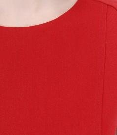 Rochie din stofa elastica cu maneci cu pliu