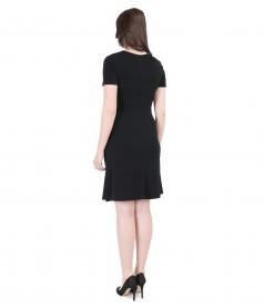 Rochie jerse negru cu catarama