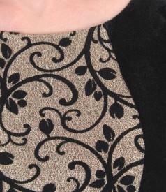 Rochie de seara scurta din catifea elastica cu insertie