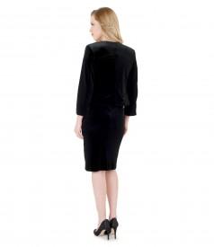 Rochie de seara scurta din catifea elastica cu bolero