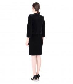 Tinuta de ocazie cu rochie eleganta brocata cu motive de catifea