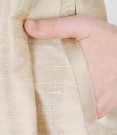 Rochie de seara cu pliuri din tafta de matase