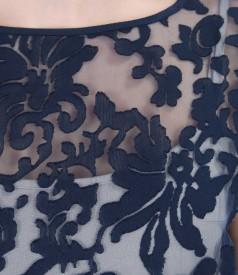 Rochie din organza brocata cu motive de vascoza si in
