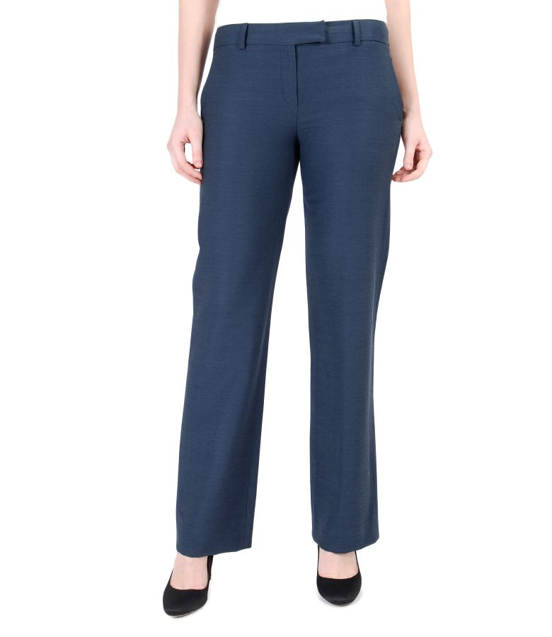 Pantaloni office cu bumbac si viscoza