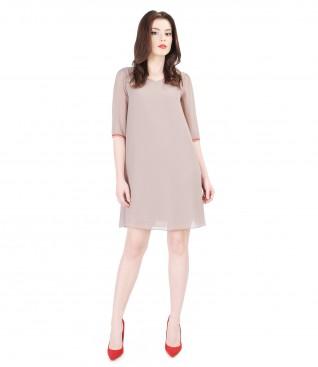 Rochie eleganta din voal cu garnitura