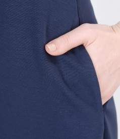 Rochie din tricot elastic cu decolteu in V