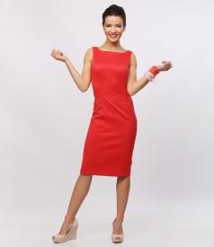 Rochie eleganta cu bumbac elastic texturat