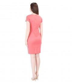 Rochie eleganta din bumbac elastic texturat