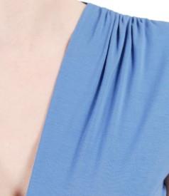 Tricou din jerse elastic cu slituri