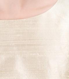 Rochie de seara din tafta de  matase cu garnitura