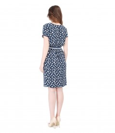 Rochie din vascoza imprimata cu talia elastica
