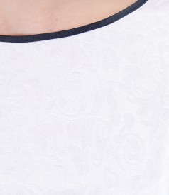 Rochie eleganta cu corsaj din brocart cu motive florale
