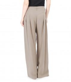 Pantaloni largi din vascoza