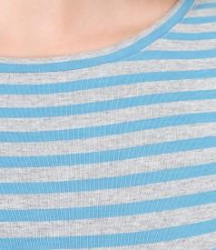 Bluza din jerse imprimat cu umeri cazuti