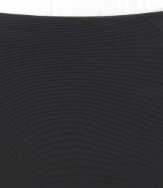 Fusta conica din jerse elastic gros