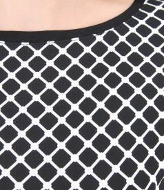 Bluza din jerse elastic imprimat in relief