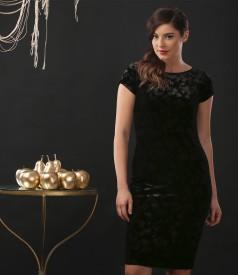 Rochie de seara scurta din catifea elastica