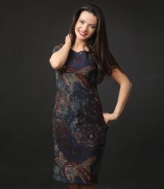 Rochie eleganta din vascoza texturata