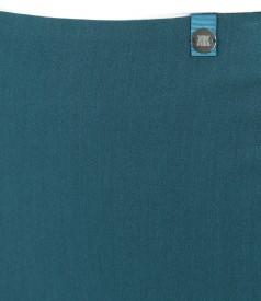 Fusta office elastica cu slit cu fermoar